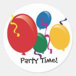 El tiempo del fiesta hincha a los pegatinas