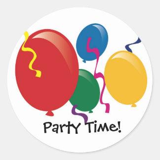 El tiempo del fiesta hincha a los pegatinas pegatinas redondas