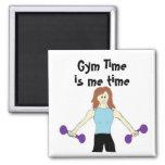 El tiempo del gimnasio es yo tiempo imanes para frigoríficos