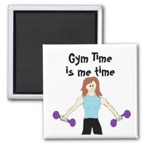 El tiempo del gimnasio es yo tiempo imán cuadrado