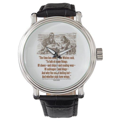 El tiempo del país de las maravillas ha venido a reloj de mano