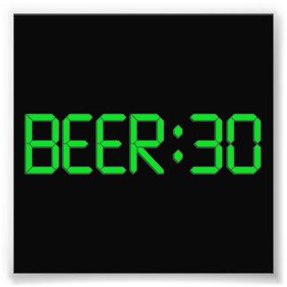 El tiempo es la cerveza 30 impresión fotográfica