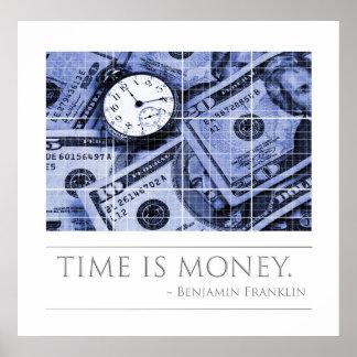 El tiempo es oro - cita de Franklin Posters