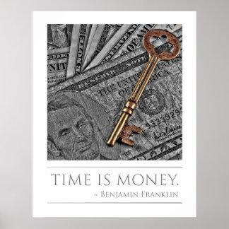 El tiempo es oro - cita de Franklin Impresiones