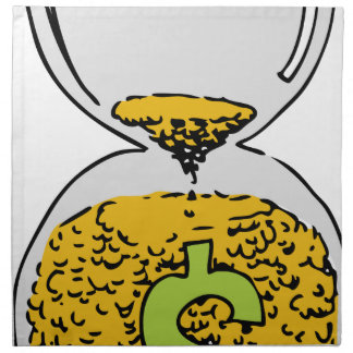 El tiempo es oro reloj de arena servilleta de papel