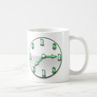 El tiempo es oro tazas de café