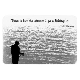 El tiempo es solamente la corriente iman flexible