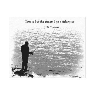 El tiempo es solamente la corriente lienzo envuelto para galerías