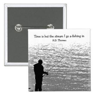 El tiempo es solamente la corriente pin cuadrado