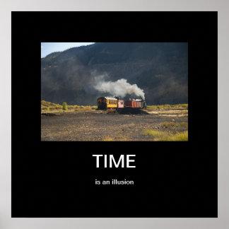 El tiempo es un poster de Demotivational de la ilu