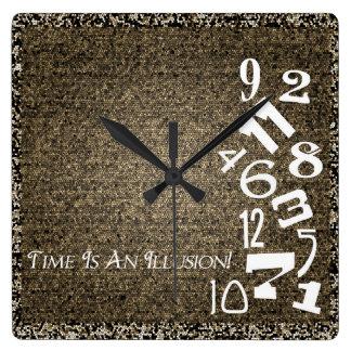 ¡El tiempo es un reloj de pared de la ilusión!