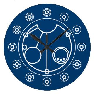 El tiempo es una ilusión reloj redondo grande