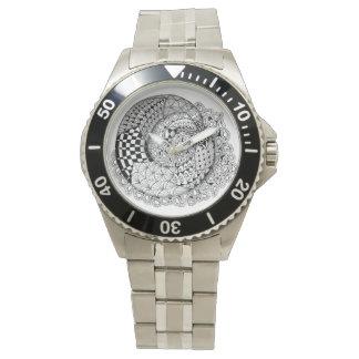 El tiempo es una torsión de Mobius Reloj De Mano