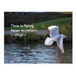 El tiempo está volando postal