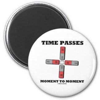 El tiempo pasa el momento al momento (el tetrapolo imán de frigorífico