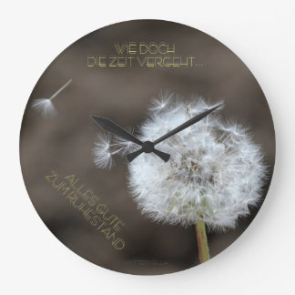 """el tiempo trascurre"" by mysteryella reloj redondo grande"