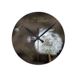 """""""el tiempo trascurre"""" by mysteryella reloj redondo mediano"""