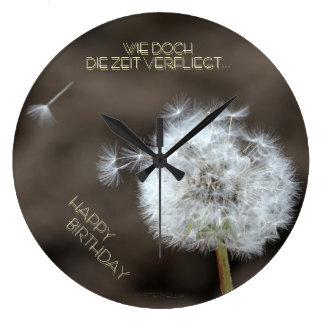 """""""el tiempo vuela"""" by mysteryella reloj redondo grande"""