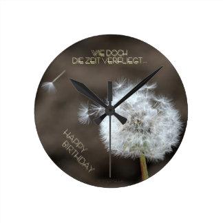 """""""el tiempo vuela"""" by mysteryella reloj redondo mediano"""