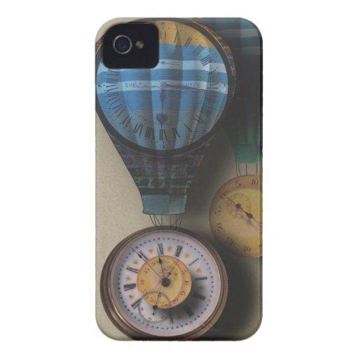 El tiempo vuela las naves dirigibles del aire del  iPhone 4 Case-Mate cárcasa