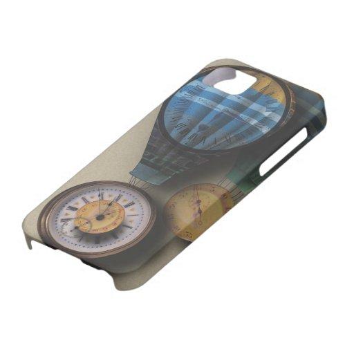 El tiempo vuela las naves dirigibles del aire del  iPhone 5 Case-Mate carcasas