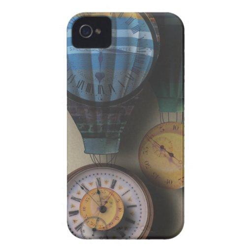 El tiempo vuela las naves dirigibles del aire del iPhone 4 Case-Mate coberturas