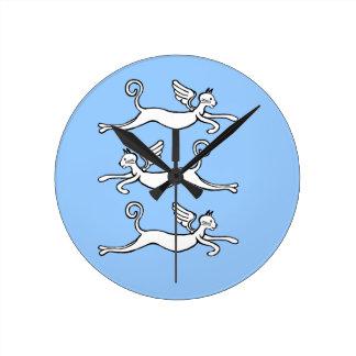 el tiempo vuela reloj redondo mediano