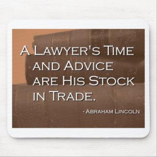 El tiempo y el consejo de un abogado tapete de ratones