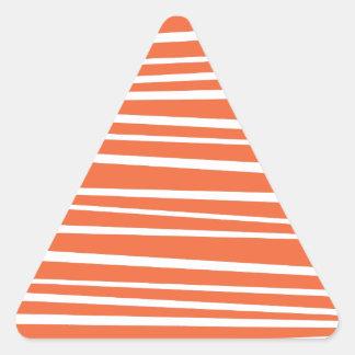 El tigre abstracto anaranjado moderno raya zigzag pegatina triangular