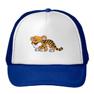 El tigre anaranjado lindo gritador Cub de bebé Gorro De Camionero