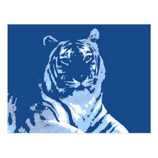 El tigre azul tarjetas postales