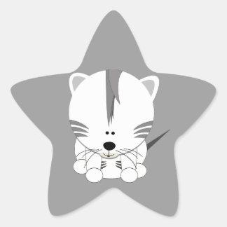 El tigre Cub blanco protagoniza a los pegatinas Colcomanias Forma De Estrellas