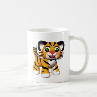 el tigre Cub del dibujo animado 3D asalta Taza Clásica