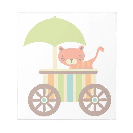 El tigre de bebé lindo en el carro del helado embr blocs