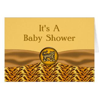 El tigre de bebé lindo raya la fiesta de bienvenid tarjetas