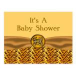 El tigre de bebé lindo raya la fiesta de bienvenid postal