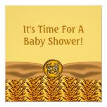 El tigre de bebé lindo raya la fiesta de invitación 13,3 cm x 13,3cm