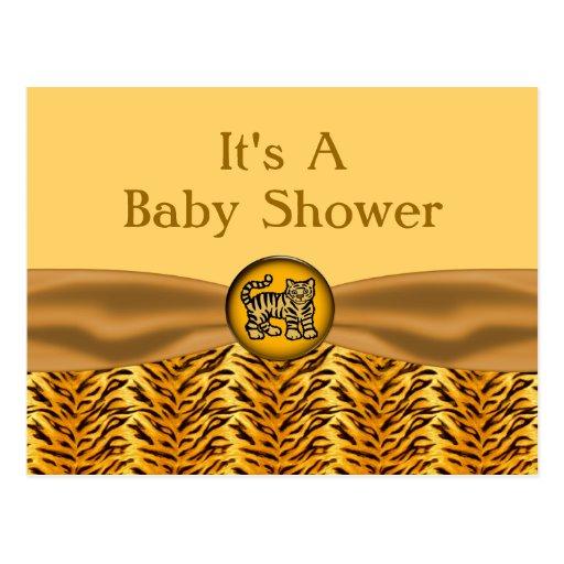 El tigre de bebé lindo raya la fiesta de tarjetas postales