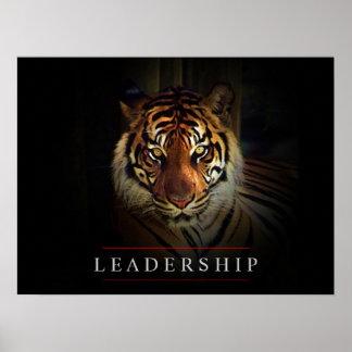 El tigre de motivación de la dirección observa la impresiones
