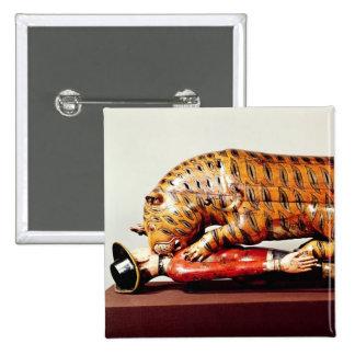 El tigre de Tipu, c.1790 (madera) Pin Cuadrado
