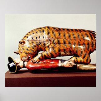 El tigre de Tipu, c.1790 (madera) Póster