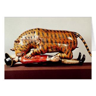 El tigre de Tipu, c.1790 (madera) Tarjeta De Felicitación