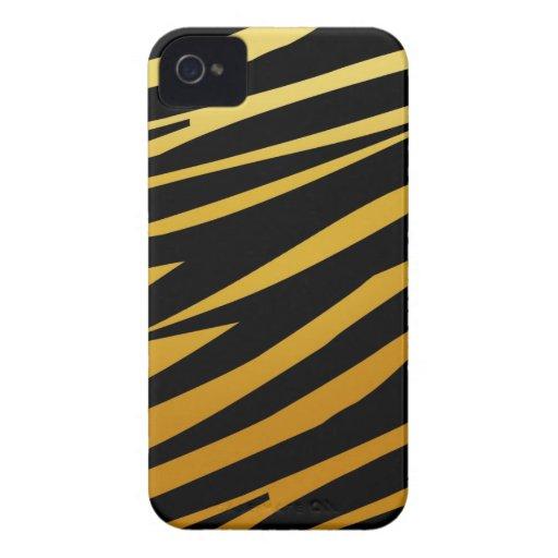 El tigre del oro raya la casamata del iPhone 4 del Case-Mate iPhone 4 Funda