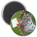 El tigre Día-Blanco de St Patrick Iman De Nevera