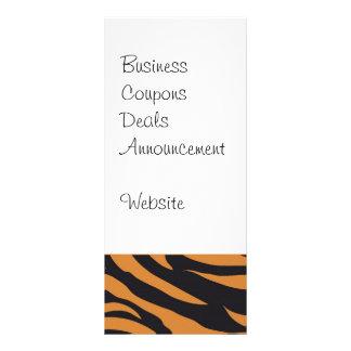El tigre enrrollado raya los regalos de los modelo tarjeta publicitaria personalizada