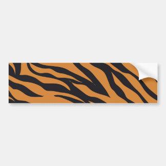 El tigre enrrollado raya los regalos de los pegatina para auto
