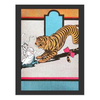 El tigre hambriento de la onza tarjetas postales