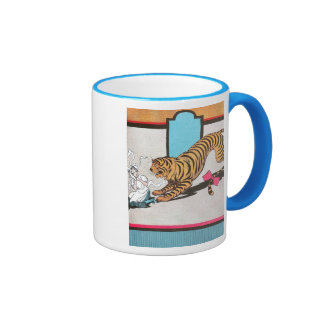El tigre hambriento de la onza taza de dos colores