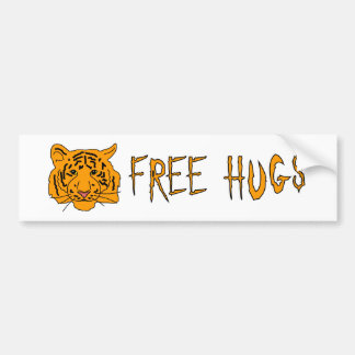 El tigre libera abrazos pegatina para auto