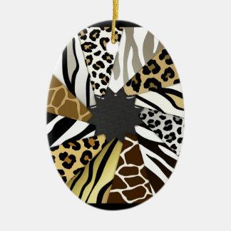 El tigre multi de la cebra de los estampados de an ornamentos de reyes magos